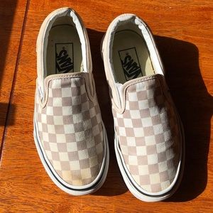 Vans Pastel Pink Girls Size 5 Checked Shoes